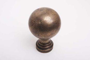 Klassieke bol rond 80mm met voet brons antiek