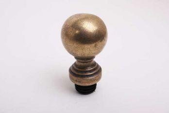 Bol rond 50mm brons antiek met inslagplug voor 30mm buis