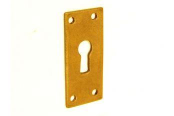 sleutelplaat Brons antiek 60 x 30