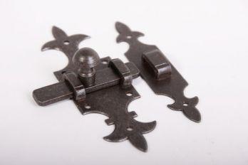 Schuif Franse lelie tinkleur of roest 140mm met aanslagbeugeltje