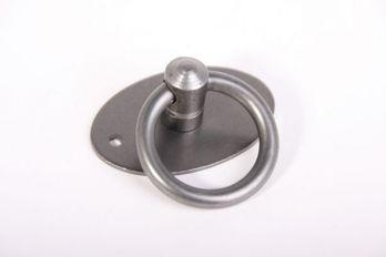 Ringgreep tinkleur 36mm diameter met ovale achterplaat 32mm