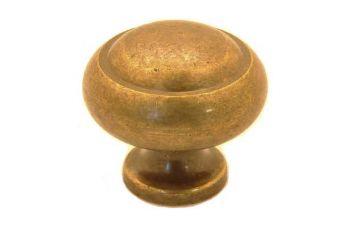 Klassieke knop brons antiek rond 30mm
