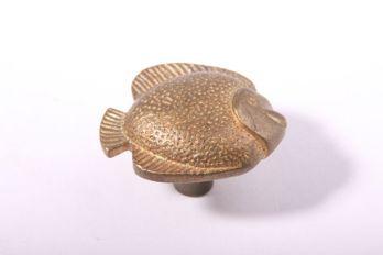 Knopje visje brons antiek