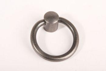 Ringgreep metaal grijs (tinkleur) 63mm diameter 8mm dik