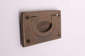 Meubeltrekker infreesgreep brons antiek 70mm