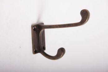 Kapstokhaak in Brons antiek - Schoolhaak