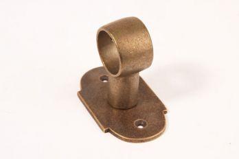 Steun voor buis 25mm brons antiek Verticaal