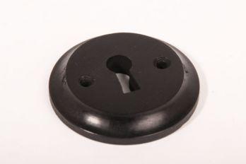 Sleutelrozet Zwart ebbenhout 60mm