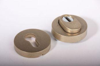 Profiel-cilinderrozet rond met kerntrek voor PC-slot brons antiek SKG***