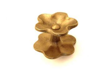 Deurknop brons antiek kelkvorm 86mm