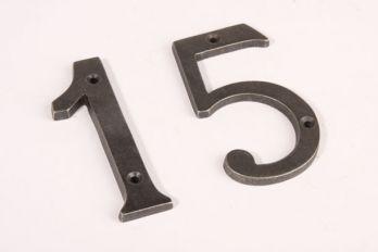 Huisnummer zilver/grijs antiek cijfer 0-9 100mm