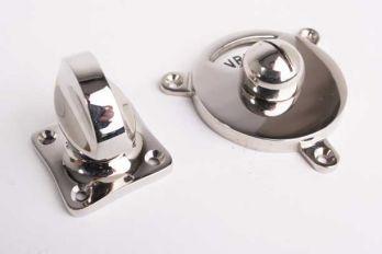 WCsluiting tonmodel vrij bezet z/w blinkend nikkel platte knop