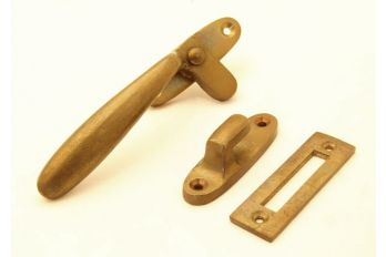 Raamsluiting (Links) Brons antiek Dudok met aanslag