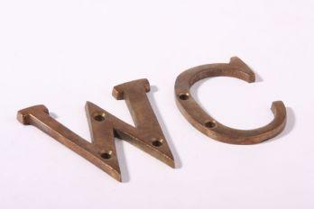 Letter brons antiek A-Z 49mm