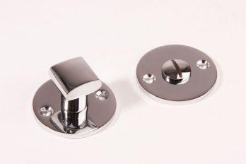 WC sluiting Chroom rond 50mm met ovaal vierkante knop