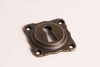 Sleutelrozet 43 mm met sleutelgat brons antiek