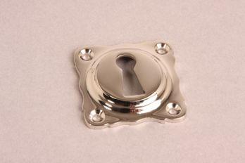 Sleutelrozet 43 mm met sleutelgat Blinkend nikkel