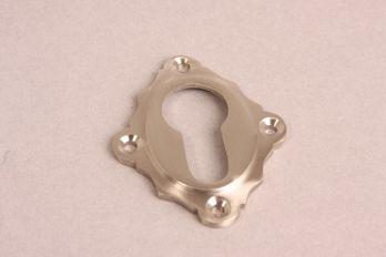 Cilinderrozet 48 mm voor cilinderslot geborsteld nikkel.