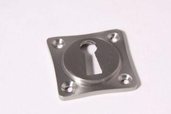 Sleutelrozet 38 mm ton-model met sleutelgat geborsteld nikkel.