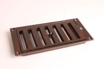 Afsluitbaar rooster zwart, roest of tinkleur 213 x 104 mm