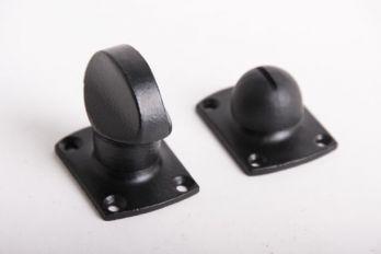 WC sluiting zwart met rozetten 854