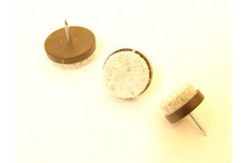 Viltschijfje met nagel 25mm voor stoelen of tafels per 4 stuks