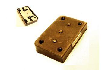 Slot opdek 15 t/m 30 mm brons antiek zowel links als rechts zs