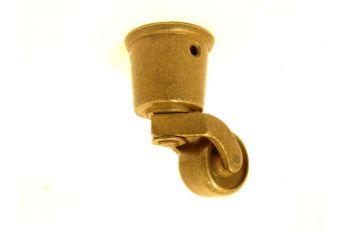 Wieltje antiek brons rond 32mm/67mm.