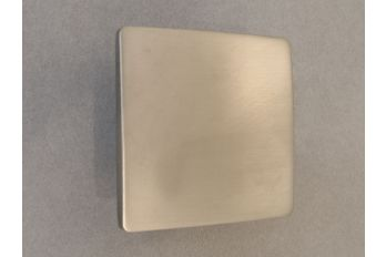 Greep vierkant geborsteld nikkel 50x50mm of 80x80mm