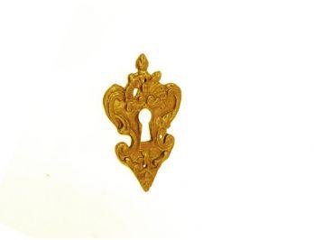 Klassieke sleutelplaat antiek brons Louis Quatorze 41mm