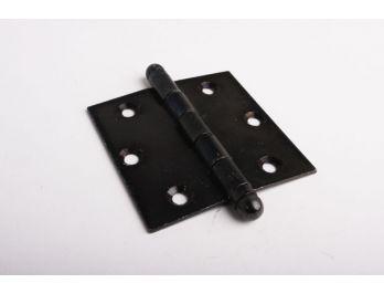 Deurscharnier zwart 89mm x 101mm met bol kopje vast