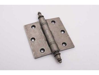 Klassiek scharnier met kogellager zilver antiek (messing) 90mm vaaskop