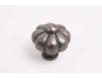 Klassieke knop zilver antiek kroon 39mm met ronde voet
