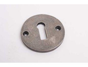 Sleutelrozet rond 50mm zilver antiek voor baardsleutel
