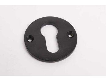 Rozet rond 50mm zwart op messing voor profiel cilinderslot