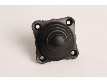 Beldrukker voor deurbel vierkant zwart 42mm