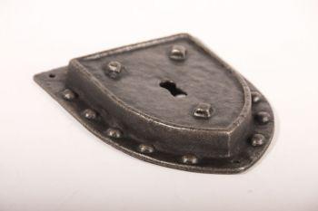 Sleutelplaat antiek grijs 155mm met bolkopschroeven