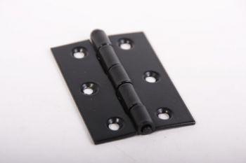 Scharnier voor meubeldeur, keukendeur en interieurbouw zwart 63mm x 42mm