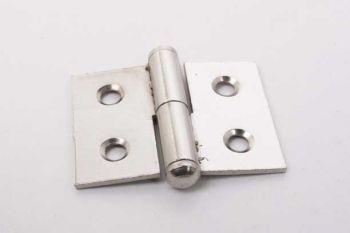 Klein paumelle scharnier opschroefbaar nikkel 30mm x 40mm links