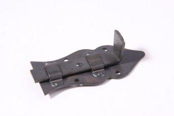Meubelschuifje zwart/grijs 80mm recht