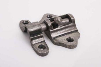 Schuifgrendeltje zilver antiek 30mm met aanslag voor buiten- en binnendeuren