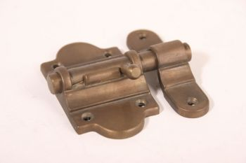Schuif brons antiek 50mm grendel met aanslag