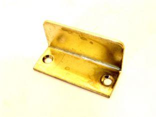Aanslag beugeltje 40x17mm 20mm hoog ijzer messing per 2 stuks zs