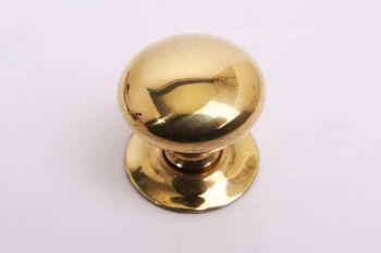 Rond knopje voor klassieke meubelen messing polijst 20mm