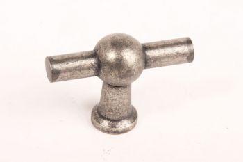 Knop zilver antiek 45mm kraanknop voor keuken en meubel
