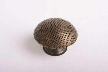 Knop brons antiek of messing polijst 38mm met gaatjes