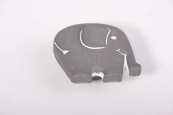 Knopje olifant grijs 45mm nylon