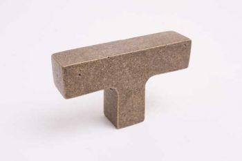 Industriële knop vierkant zilver antiek 67mm T-knop voor binnen en buiten