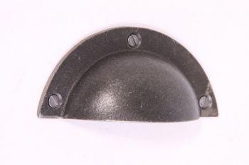 Komgreep - greep metaal grijs (tinkleur) 93mm