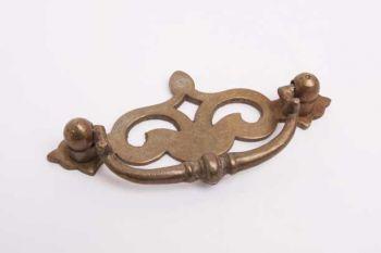 Greep Antiek Brons 85mm Queen Anne